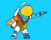 Astronaute avec fusée