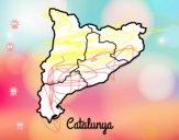 Coloriage Catalogne colorié par raphael
