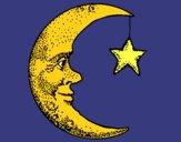 Lune et étoile