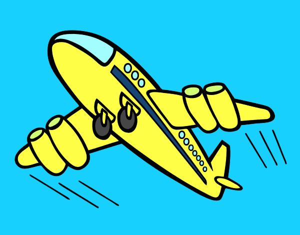 Dessin de avion rapide colorie par membre non inscrit le - Dessin avion stylise ...