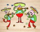 Coloriage Les Mariachis colorié par raphael