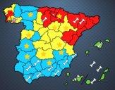 Coloriage Les provinces de l'Espagne colorié par raphael