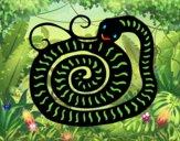Coloriage Signe du serpent colorié par raphael