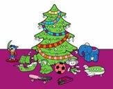 Arbre de Noël avec jouets