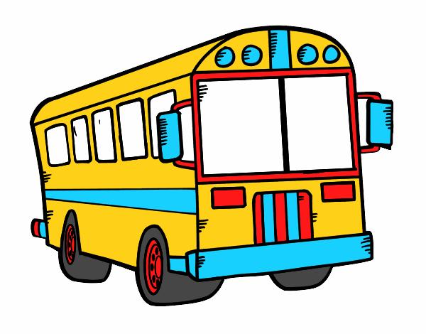 Dessin De Autobus Scolaire Colorie Par Mario Le 13 De