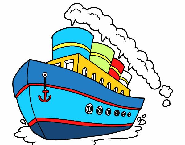 Dessin de paquebot colorie par mario le 15 de juillet de - Coloriage paquebot ...