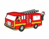 Coloriage Pompiers dans le camion colorié par mario