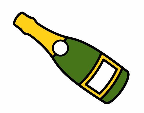 Bouteille De Champagne Dessin dessin de bouteille de vin de champagne colorie par membre non