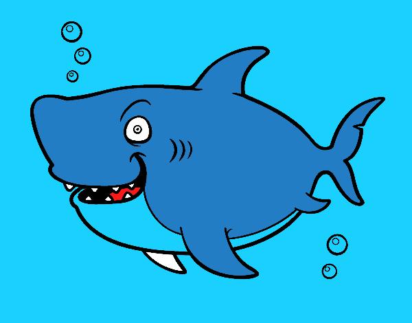 Dessin de requin baleine colorie par membre non inscrit le - Coloriage de requin baleine ...
