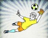 Un gardien de but de football