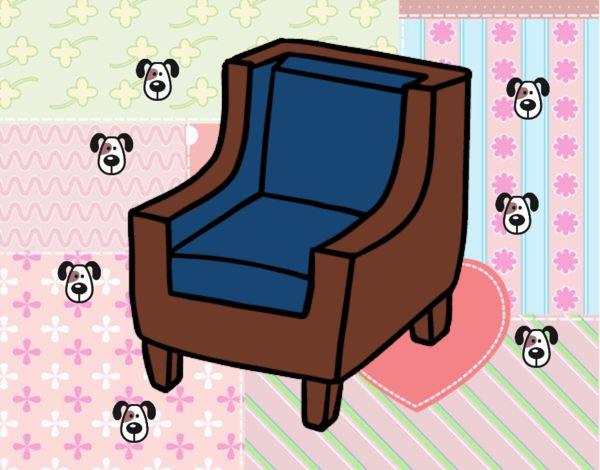 Dessin de fauteuil confortable colorie par membre non - Fauteuil salon confortable ...