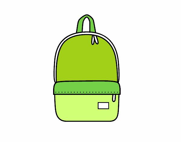Dessin de sac dos moderne colorie par membre non inscrit - Coloriage sac a dos ...