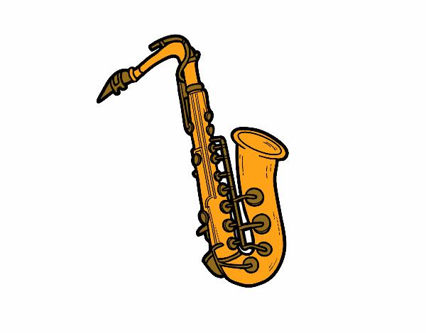 Dessin Saxophone dessin de une saxophone ténor colorie par membre non inscrit le 11