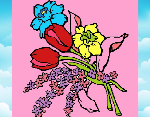 Dessin de bouquet de fleurs colorie par membre non inscrit for Bouquet de fleurs 2016