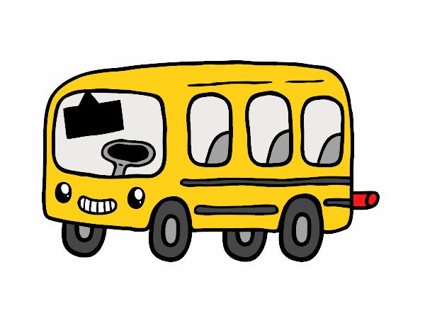 Dessin de un autobus scolaire colorie par membre non - Autobus scolaire dessin ...