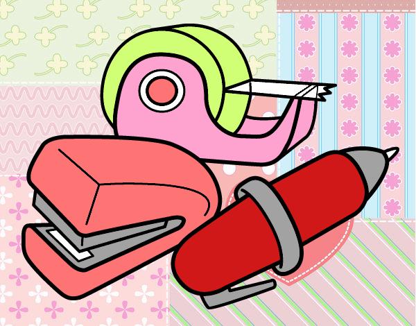 Dessin de fournitures scolaires colorie par membre non inscrit le 22 de septembre de 2016 for Fournitures scolaires en ligne