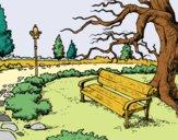 Coloriage Parc paysager colorié par laetitia