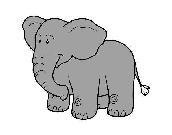 Dessin D Un Éléphant dessin de un éléphant d'afrique colorie par membre non inscrit le 15