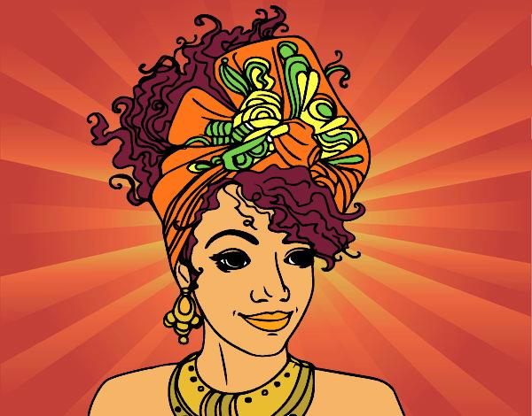 Dessin De Femme Africaine dessin de femme africaine colorie par membre non inscrit le 18 de