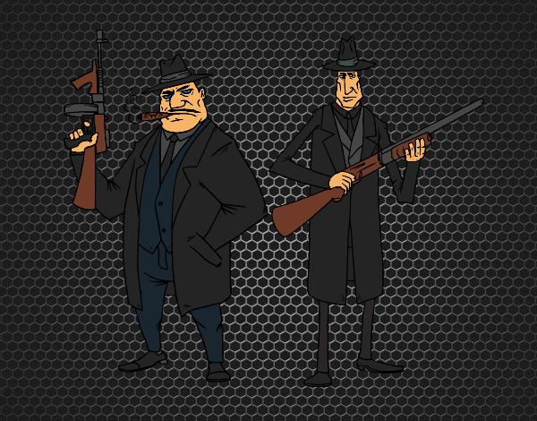 Coloriage Gangsters colorié par KAKE2