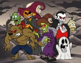 Coloriage Halloween Monsters colorié par EloMunoz66