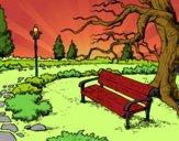 Coloriage Parc paysager colorié par EloMunoz