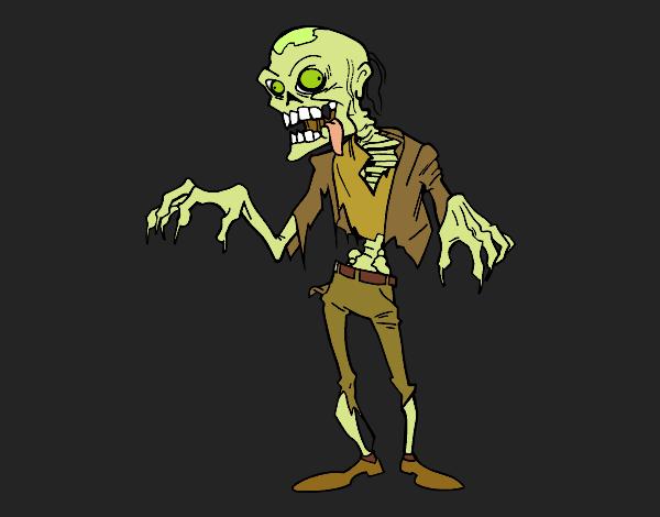 Coloriage Un zombie colorié par KAKE2