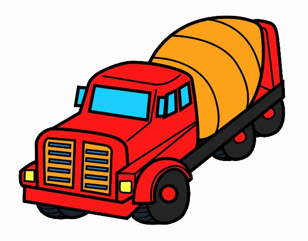 dessin de camion malaxeur colorie par membre non inscrit le 26 de novembre de 2016. Black Bedroom Furniture Sets. Home Design Ideas
