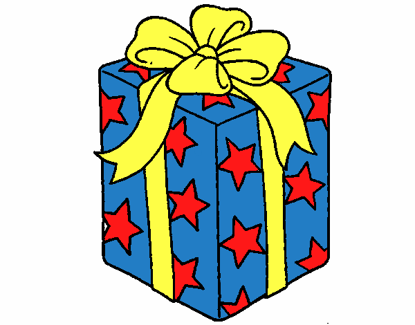 dessin de cadeau envelopp dans du papier toiles colorie par membre non inscrit le 12 de. Black Bedroom Furniture Sets. Home Design Ideas