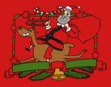 Le Père Noël et le renne de Noël
