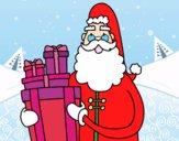 Santa Claus avec des cadeaux