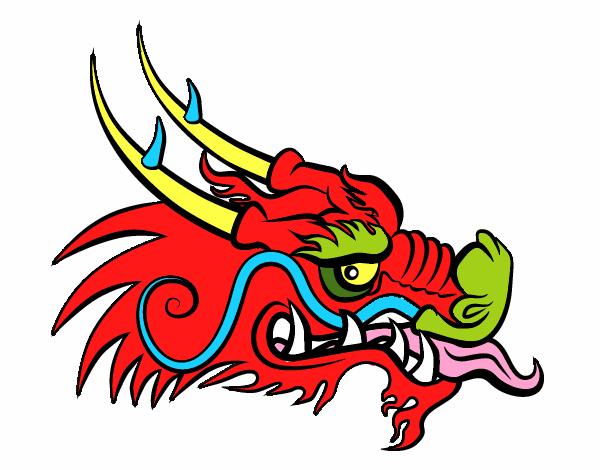 Dessin de t te de dragon roux colorie par membre non inscrit le 19 de d cembre de 2016 - Dessin de tete de dragon ...