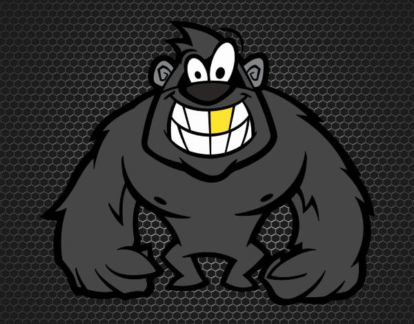 Gorille poilue