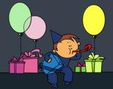 Coloriage La fête d'anniversaire colorié par KAKE2