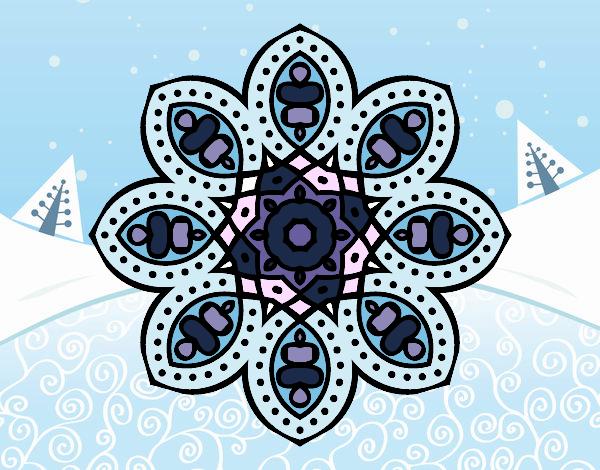 Coloriage Mandala arabe colorié par atchicanon
