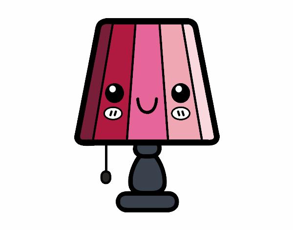 Dessin De Une Lampe De Table Colorie Par Membre Non