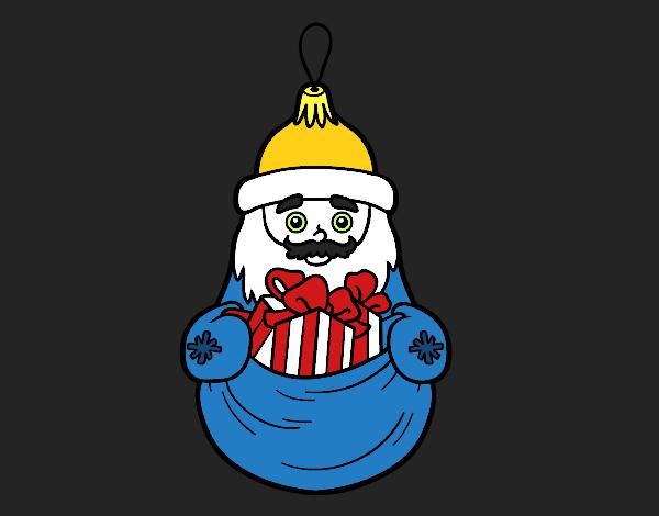 Coloriage Décoration de Noël Santa Claus colorié par KAKE2