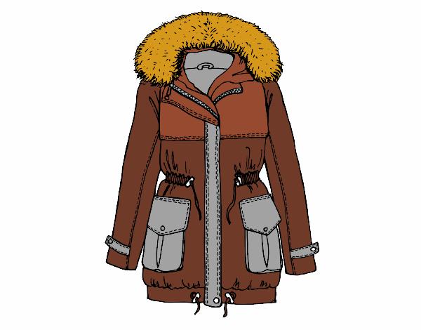 Dessin de manteau d 39 hiver colorie par membre non inscrit - Manteau dessin ...