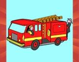 Pompiers dans le camion