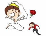 Bonheur mariés