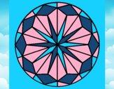 Coloriage Mandala 41 colorié par saradauphi