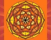 Coloriage Mandala 6 colorié par saradauphi