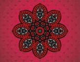 Coloriage Mandala arabe colorié par saradauphi