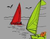 Voiles en haute mer