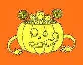 Bonbons Halloween citrouille
