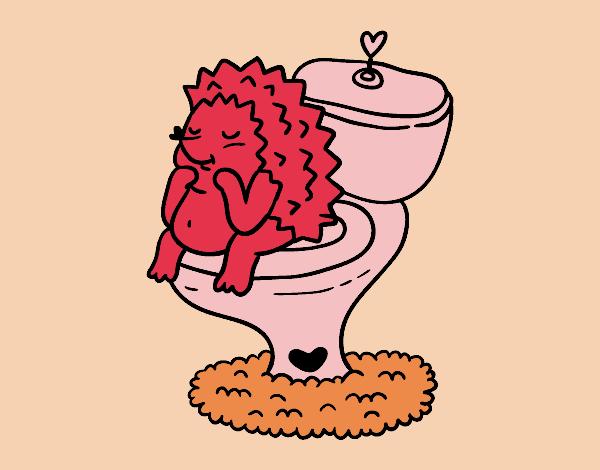 Hérisson dans la salle de bains