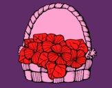 Panier de fleurs 6