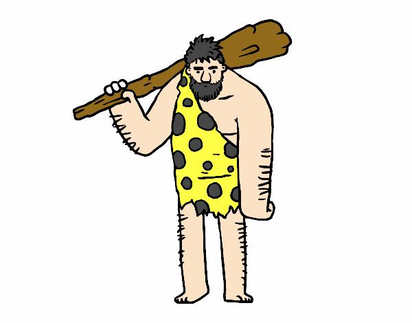 Dessin De L Homme Des Cavernes Colorie Par Membre Non Inscrit Le 08