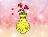 Liseron dans un vase