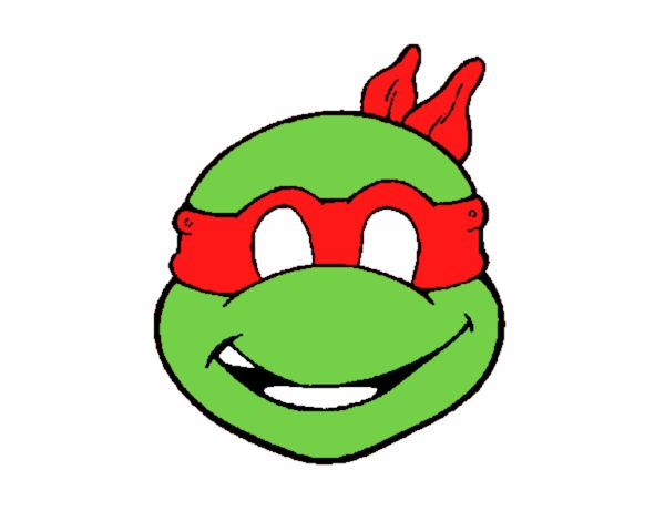 Dessin de masque tortue ninja colorie par membre non - Le rat des tortue ninja ...